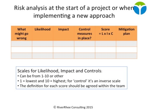 Risk analysis matrix or FMEA
