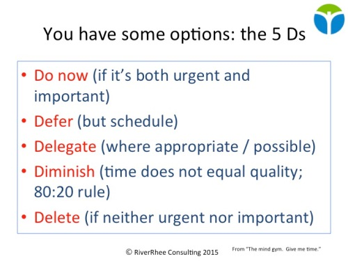 The 5 Ds for managing time