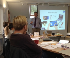 John Hicks, our newest Associate for coaching and training addressing delegates on a recent course